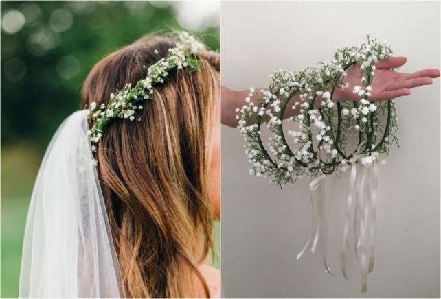 Свадебные веночки на голову своими руками 46