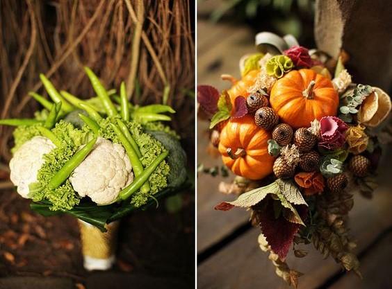 Осенние букеты своими руками из овощей 22