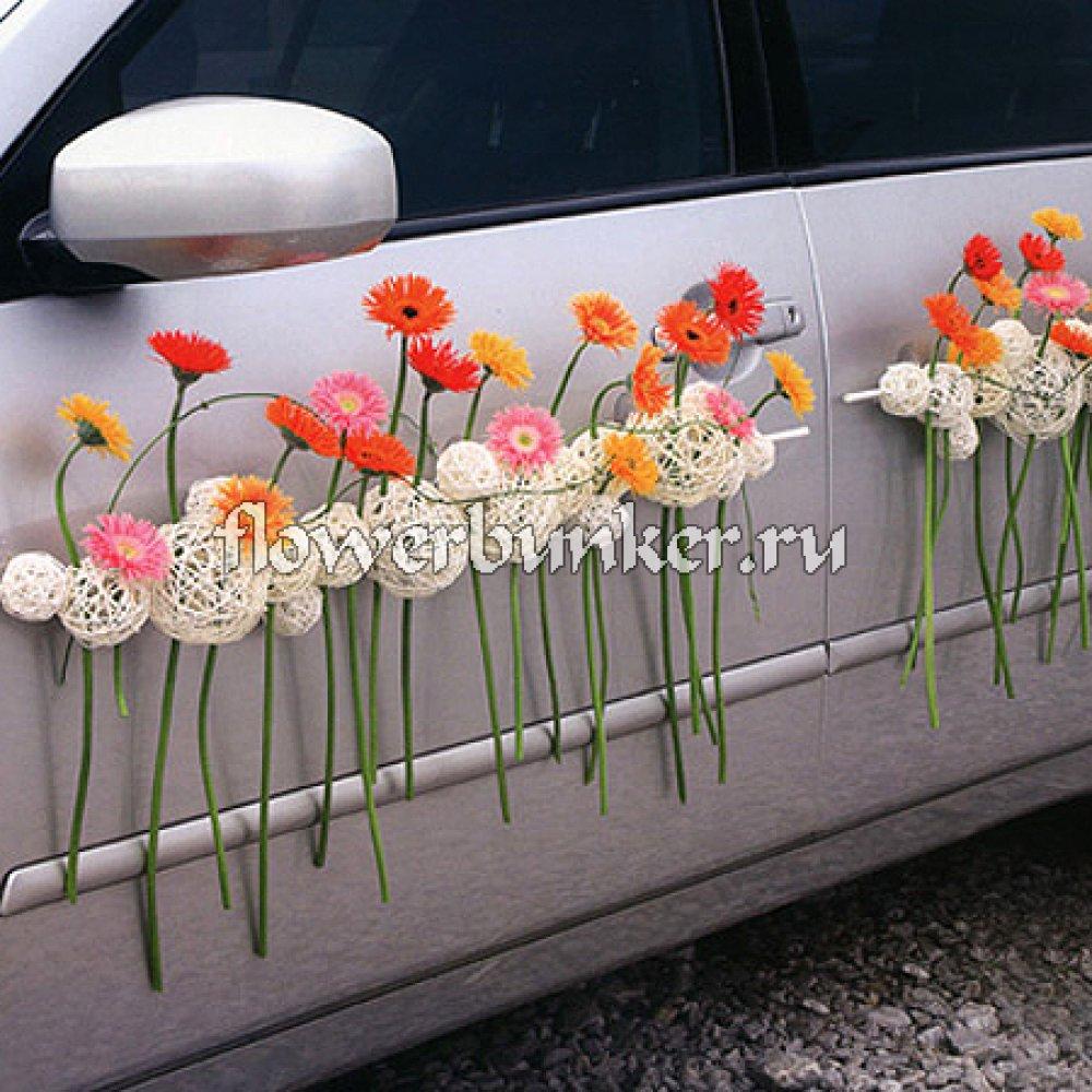 Делаем сами: украшение для машины на свадьбу своими руками 54