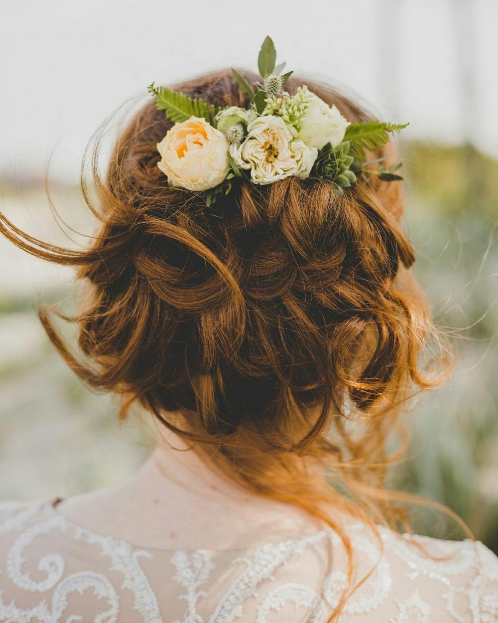 Свадебные прически надежда