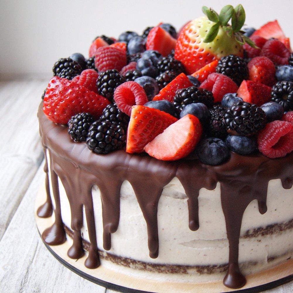 Украсить торт ягодами своими руками фото фото 39