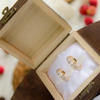Коробочка для свадебных колец своими руками