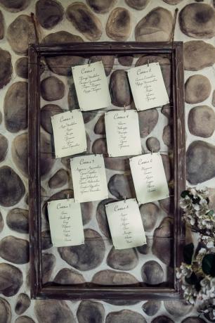 План рассадки гостей на прищепках. Будьте оригинальными, удивляйте гостей своими нестандартными решениями. =)