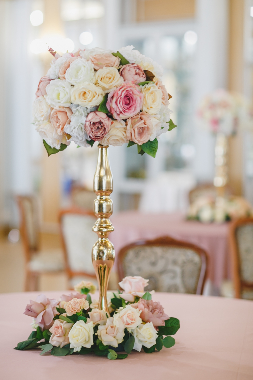 garden roses, свадебная флористика и декор, флористика на свадьбу в кремово  персиковых тонах - The-wedding.ru