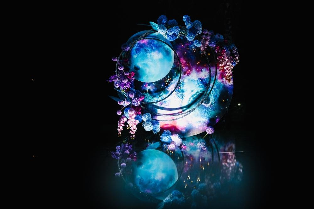 картинки с цветами на фоне космоса
