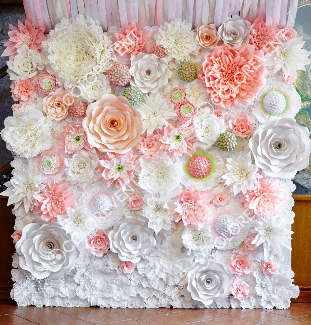 Большие бумажные цветы на свадьбу своими руками