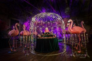 Candybar fairy flamingo wedding