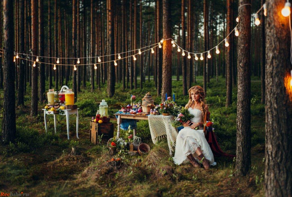 Picnic ground wedding