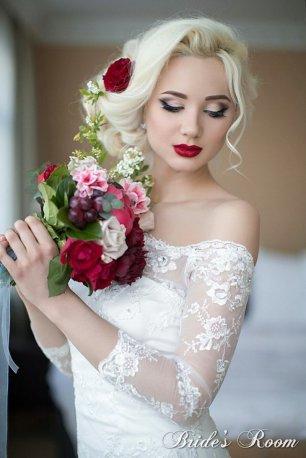 Яркий макияж - для яркой невесты 50