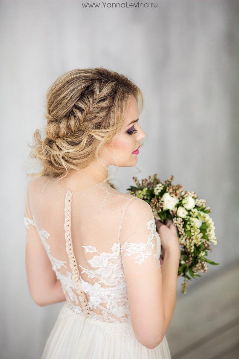 свадебные и вечерние прически с элементами плитения
