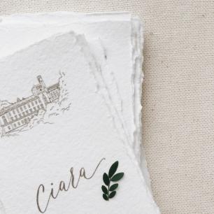 Карточки рассадки с рисунком места церемонии