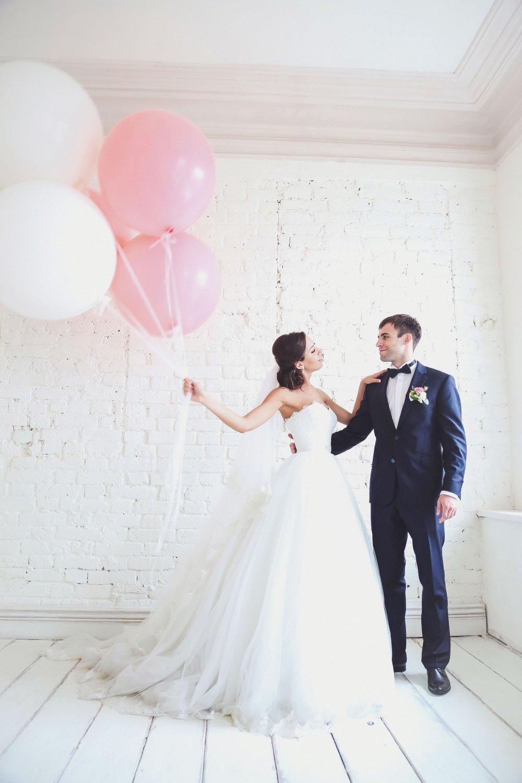 Свадебная фотосессия с шарами