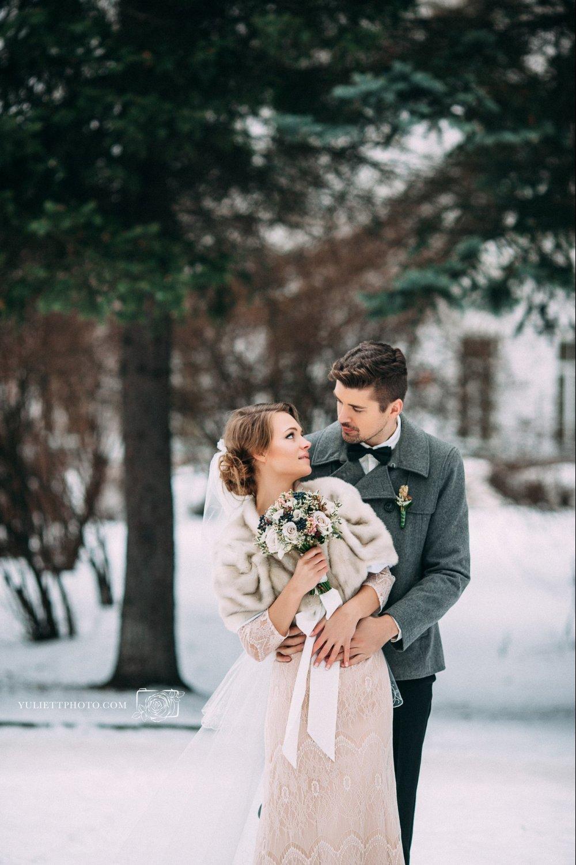свадебные фотосессии в питере зимой венчает