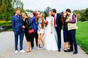 Гости на синей свадьбе фото