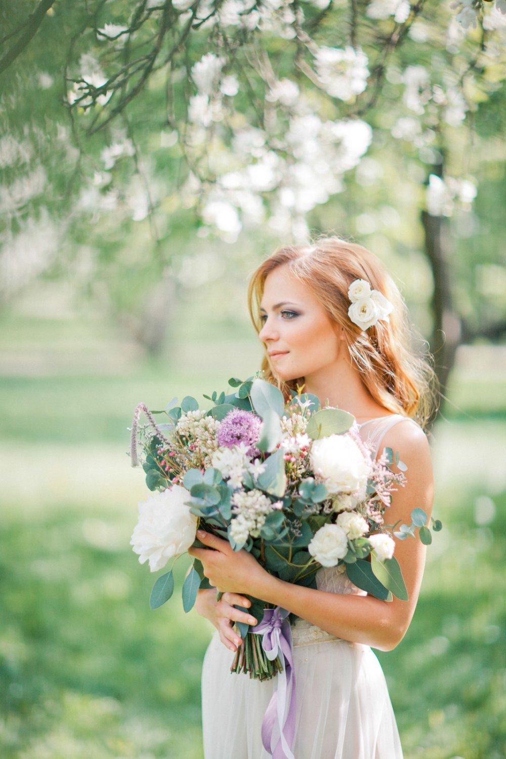Букеты невесты для пышного
