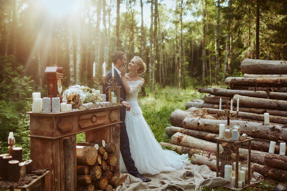 фотографии свадебные в лесу