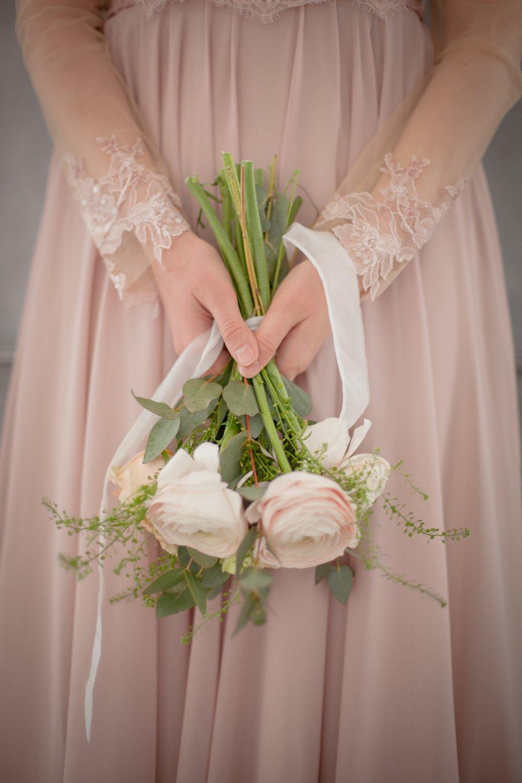 Свадебное платье цвета пыльной розы