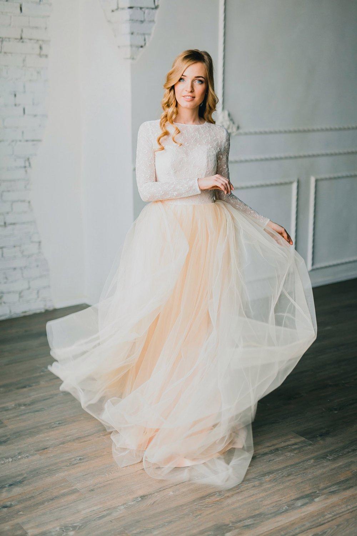 Свадебное платье фатиновое платье