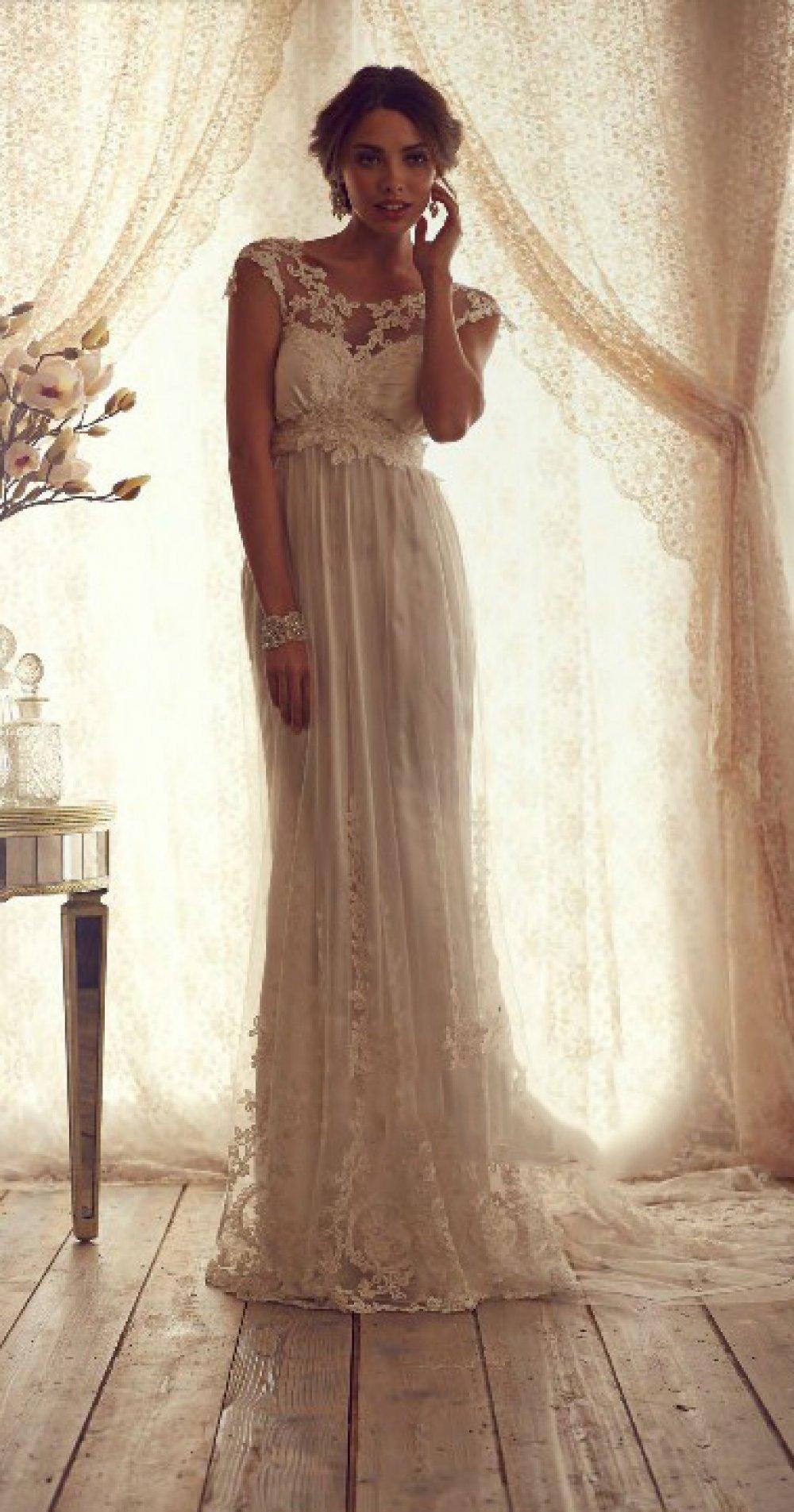Свадебные платья греческого стиля с кружевом