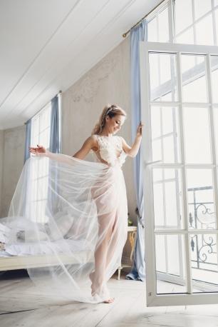 Воздушное будуарное платье для самого нежного утра невесты!