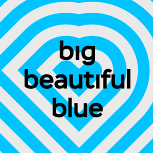 Big beautiful blue