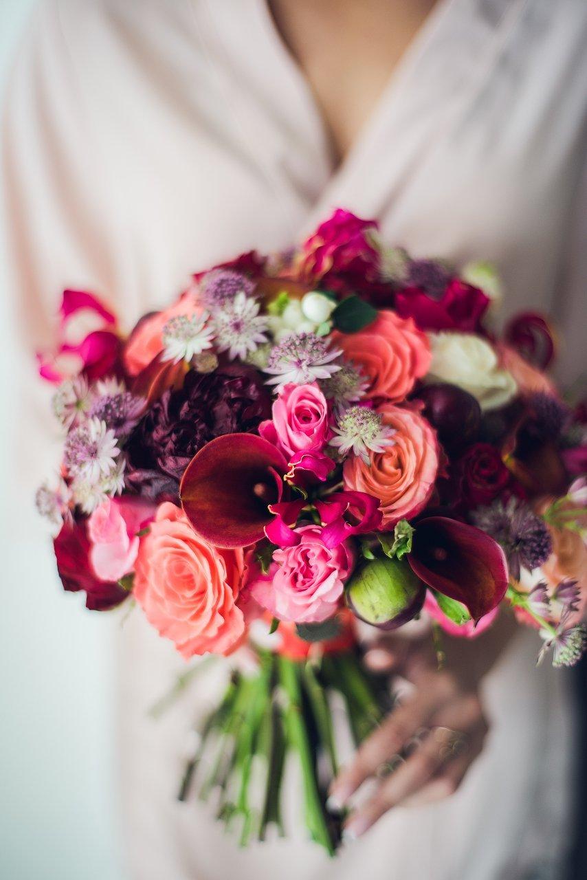 Свадебный букет невесты осенний