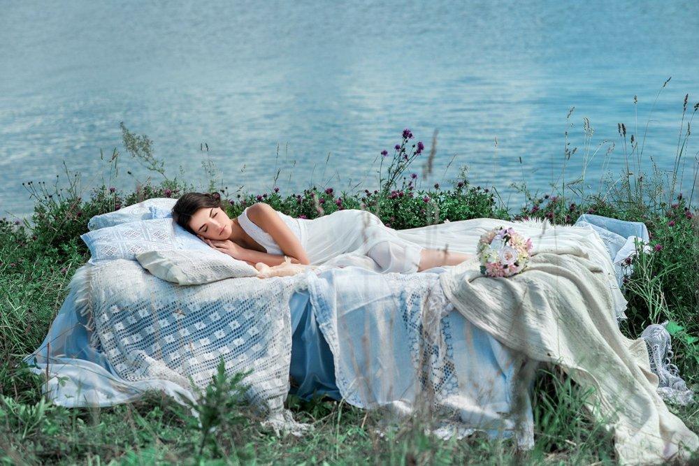 Утро невесты на природе фотосессия
