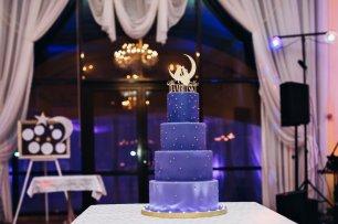 Свадебный торт для лунно-звездной свадьбы