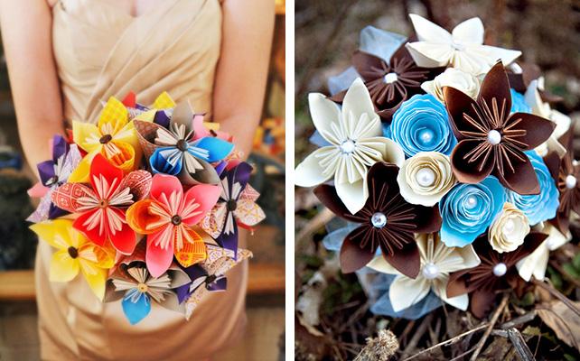 Как сделать букет бумажных цветов своими руками7
