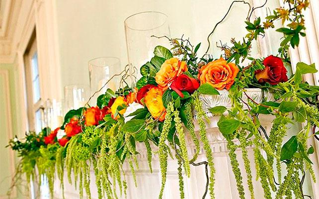 искусственные цветы IKEA в декоре свадьбы