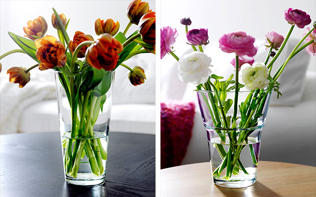 вазы IKEA в декоре свадьбы