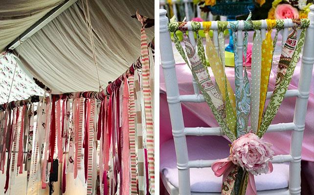 ткани IKEA в декоре свадьбы