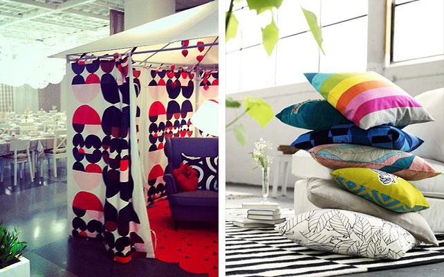подушки IKEA в декоре свадьбы