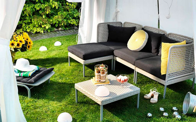 мебель IKEA в декоре свадьбы