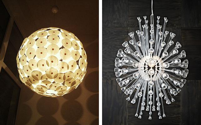 оригинальные светильники IKEA в декоре свадьбы