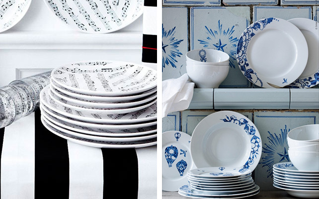 посуда IKEA в декоре свадьбы