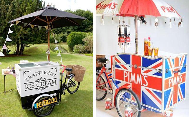 12 идей для незабываемой свадьбы, вагончик с едой на свадьбе