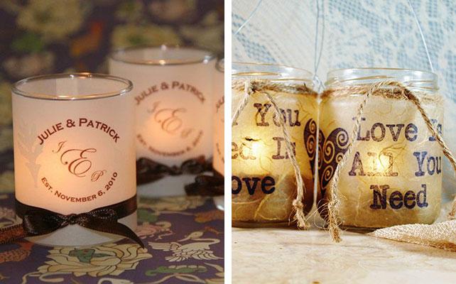 12 идей для незабываемой свадьбы,светящиеся баночки