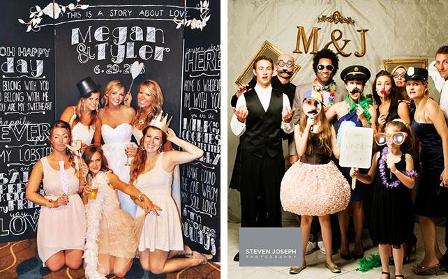 12 идей для незабываемой свадьбы, фотобудка на свадьбе