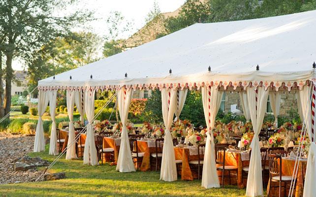 Rain tent wedding