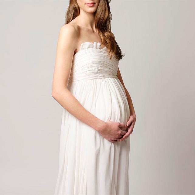 Какое свадебное платье выбрать беременной невесте  916efc2134e