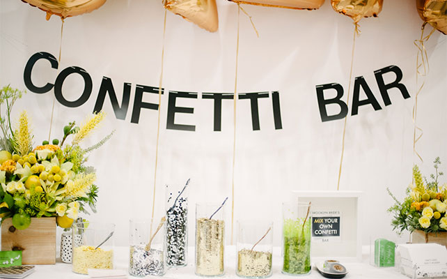 Confetti bar at wedding