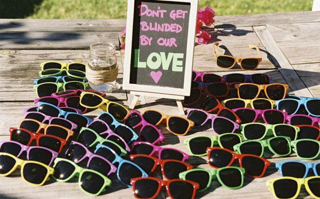 подарки для гостей на свадбе, солнечные очки