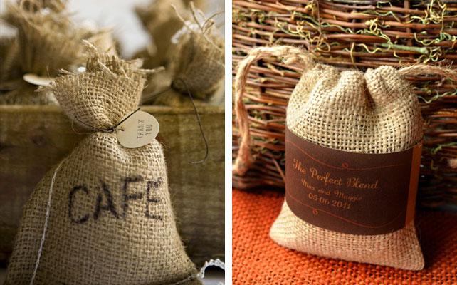 подарки для гостей на свадбе, кофейные зерна