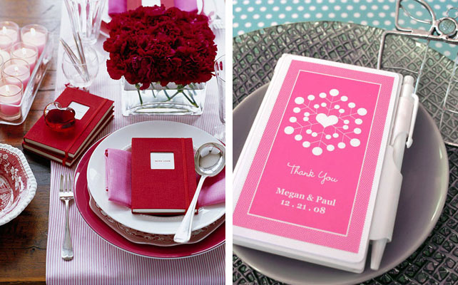 подарки для гостей на свадбе, ежедневник