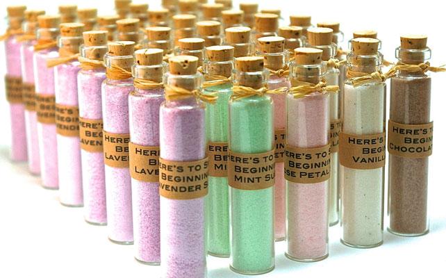 подарки для гостей на свадбе, соль для ванн