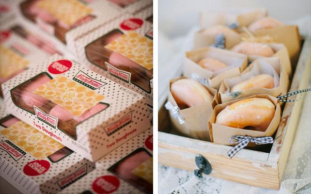 подарки для гостей на свадбе, пончики