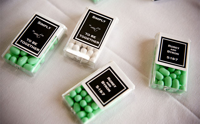 подарки для гостей на свадбе, мятное драже