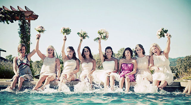 свадебные фото, невеста и подружки невесты