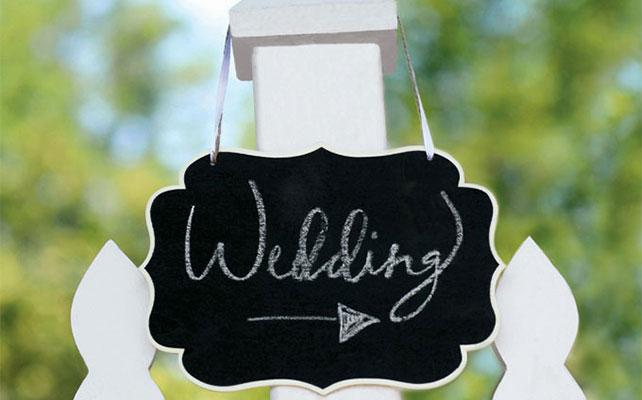 грифельная доска в свадебном декоре